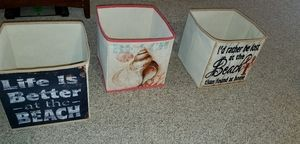 3 Soft baskets Great for cube shelves